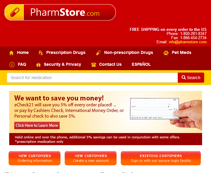 Pharmstore - Prescription Referral Service Offering Affordable Medication