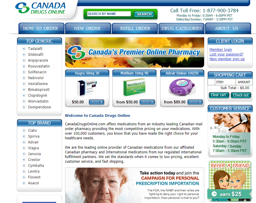 Canadadrugsonline - Dispenses Rx Only if You Have a Valid Prescription