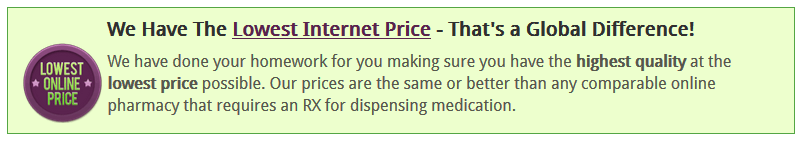 Global Pharmacy Plus Lowest Internet Price Banner