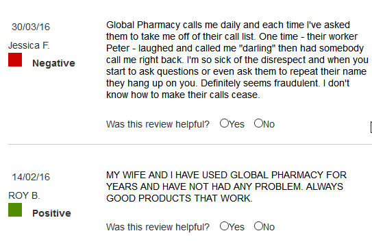 Global Pharmacy Plus Reviews
