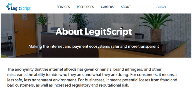 LegitScript Official Check Site
