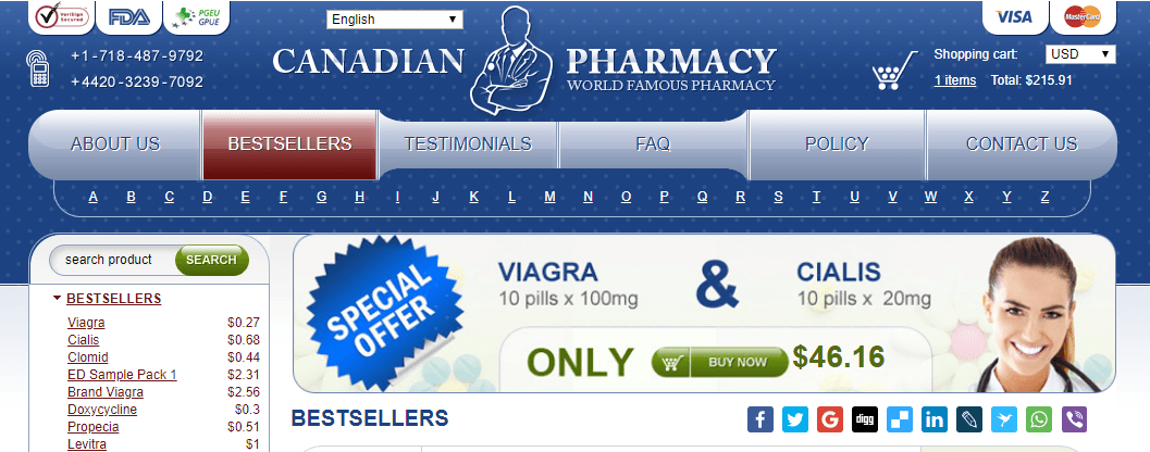Canadian Pharmacy Offering Viagra
